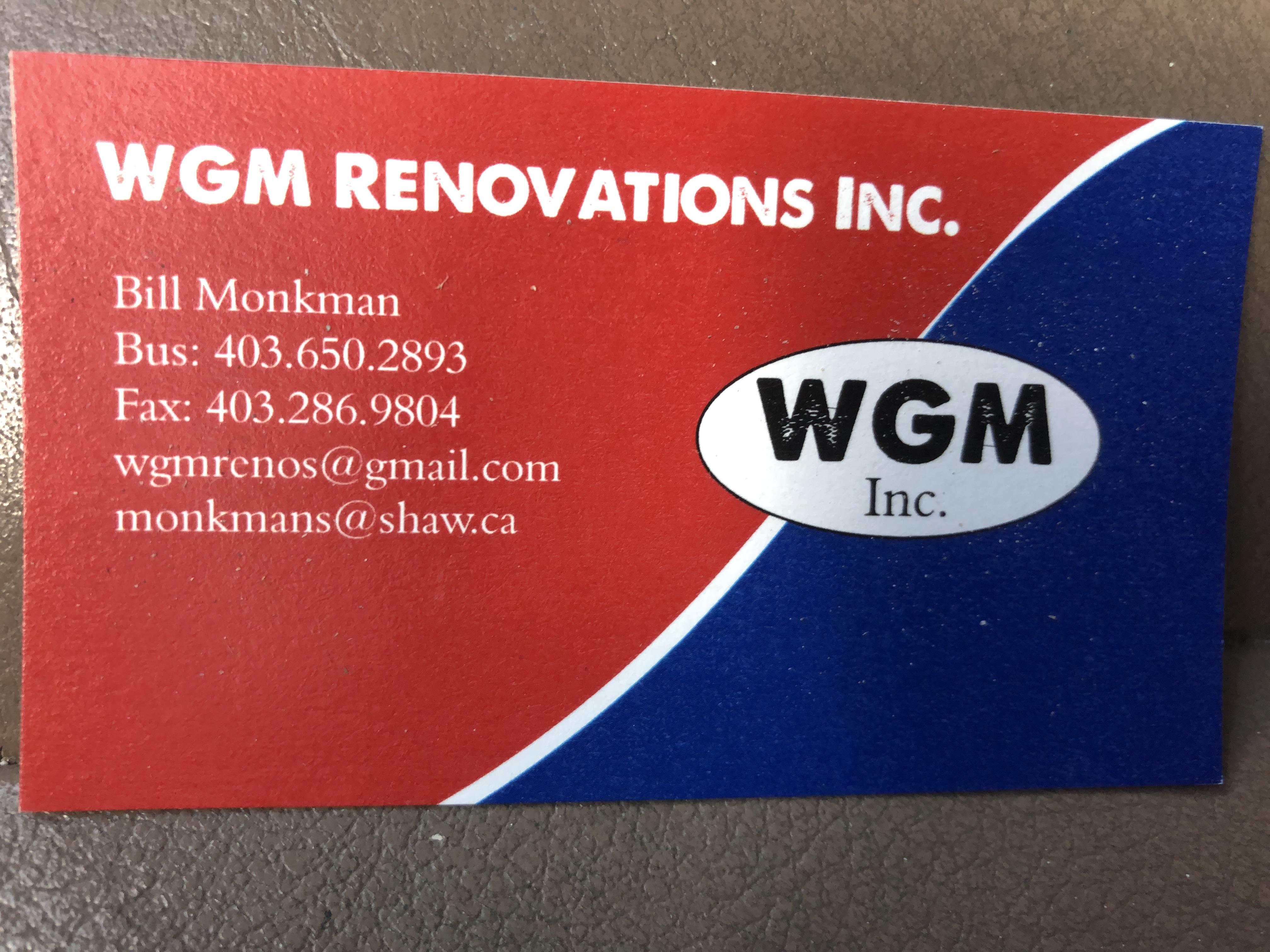 WGM renovations Inc.